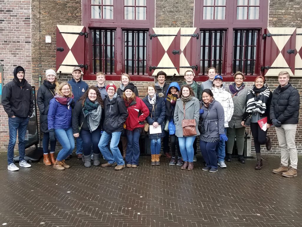 The 2016-17 cohort during their trip to the Netherlands in January 2017.