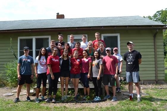 The 2017-18 cohort at their fall leadership retreat in August 2017.